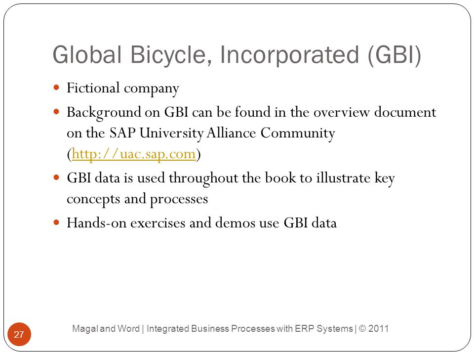 Global Bicycle, Incorporated (GBI)