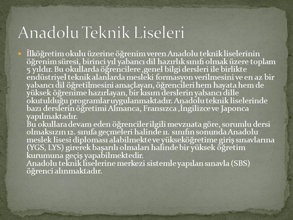 Anadolu Teknik Liseleri
