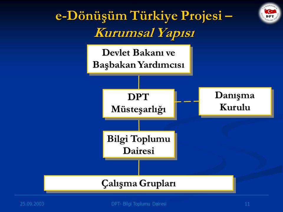 e-Dönüşüm Türkiye Projesi – Kurumsal Yapısı