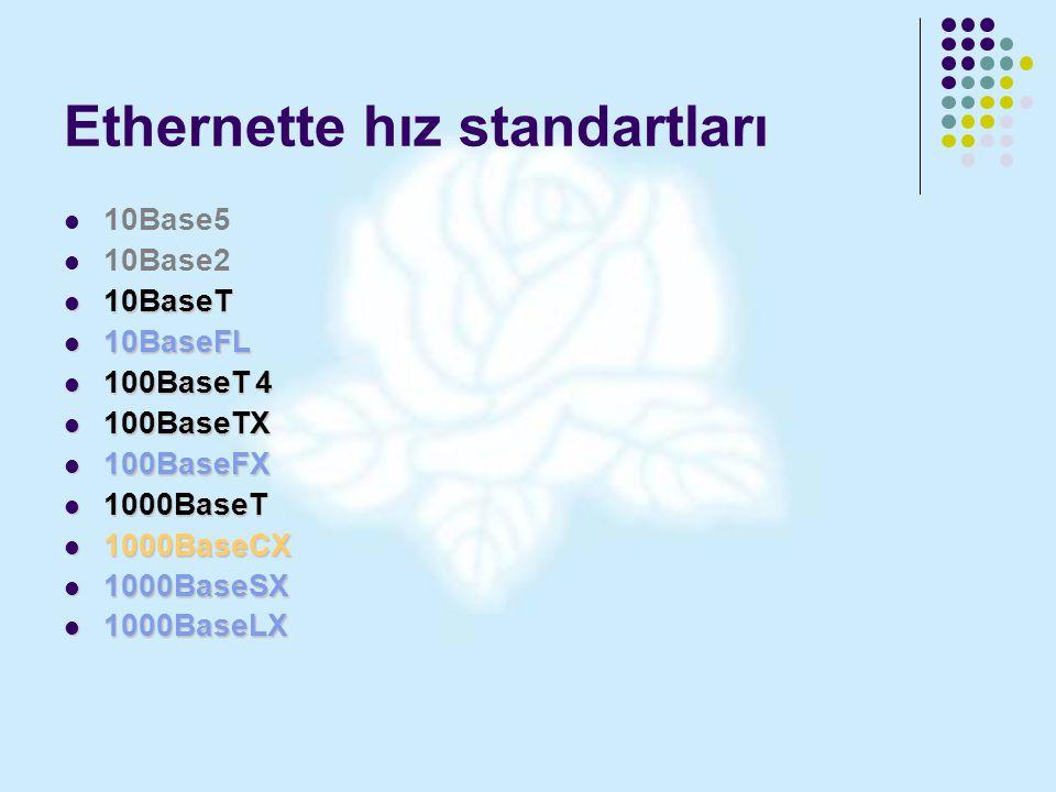 Ethernette hız standartları