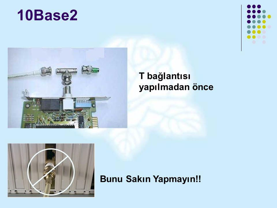 10Base2 T bağlantısı yapılmadan önce Bunu Sakın Yapmayın!!