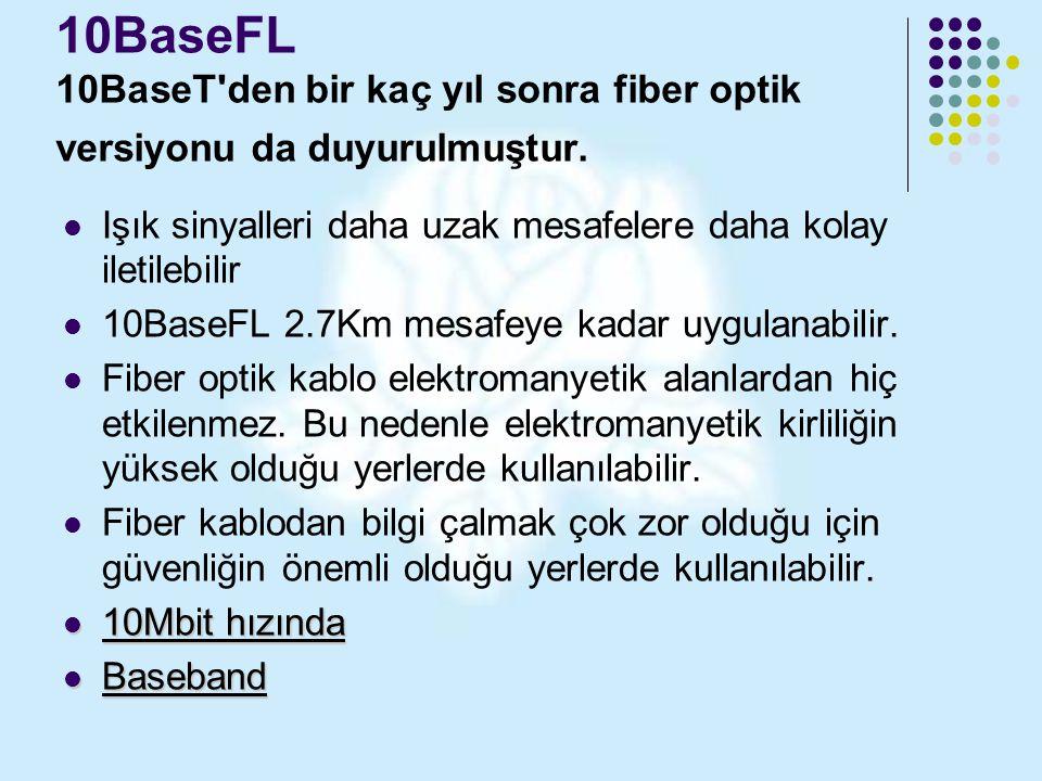 10BaseFL 10BaseT den bir kaç yıl sonra fiber optik versiyonu da duyurulmuştur.