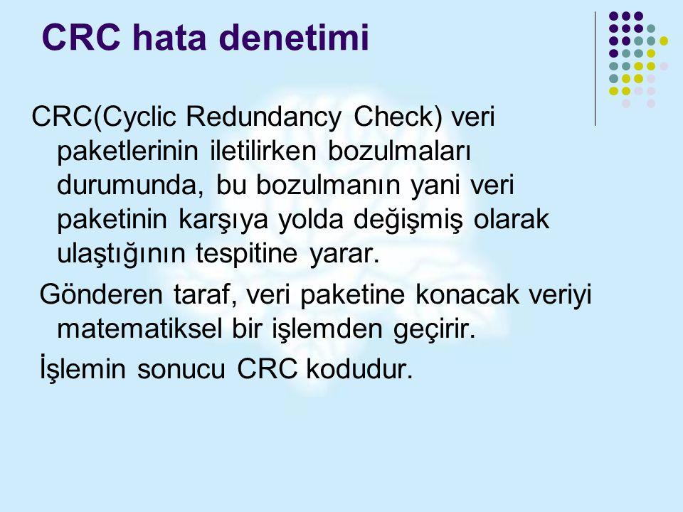 CRC hata denetimi