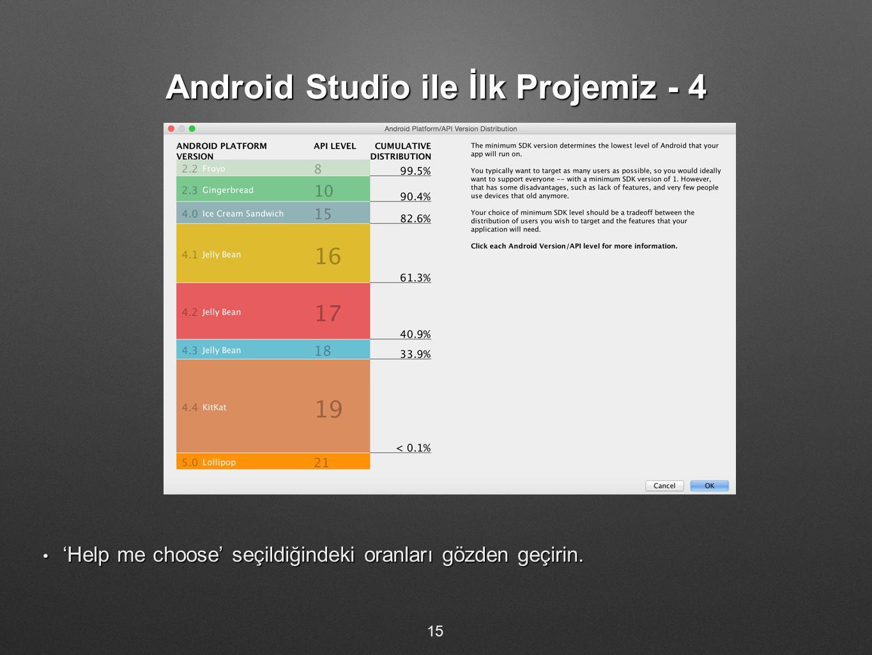 Android Studio ile İlk Projemiz - 4