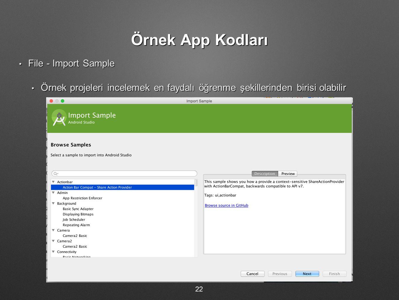 Örnek App Kodları File - Import Sample