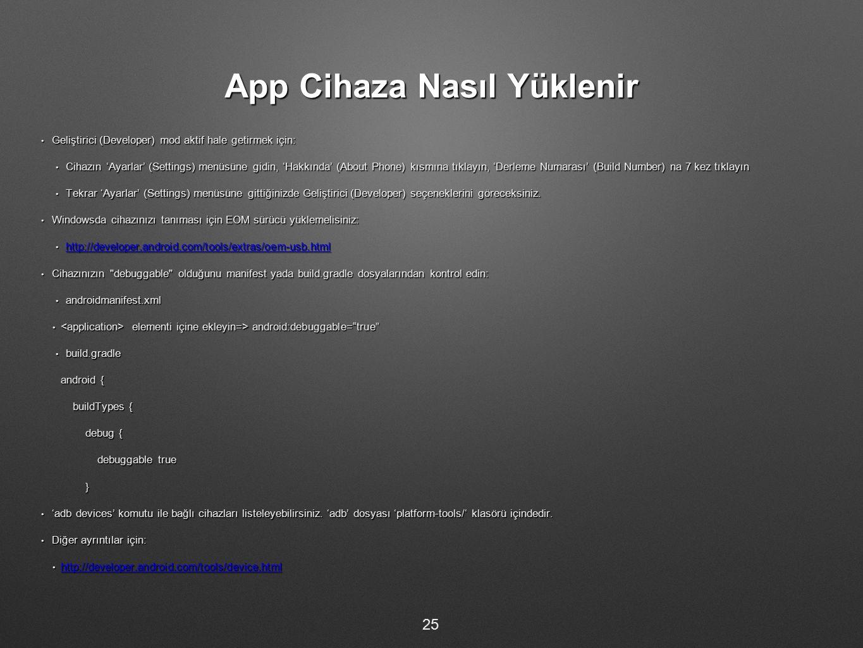 App Cihaza Nasıl Yüklenir