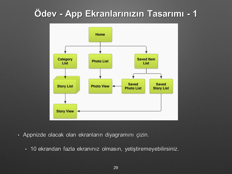 Ödev - App Ekranlarınızın Tasarımı - 1