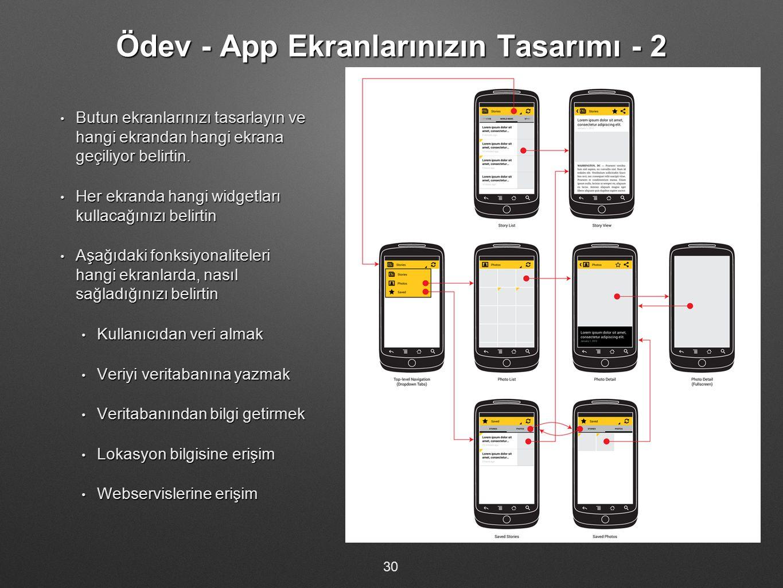 Ödev - App Ekranlarınızın Tasarımı - 2