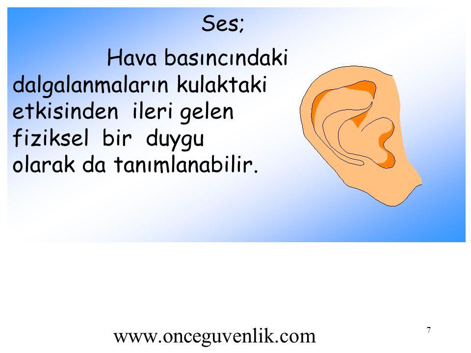 dalgalanmaların kulaktaki etkisinden ileri gelen fiziksel bir duygu