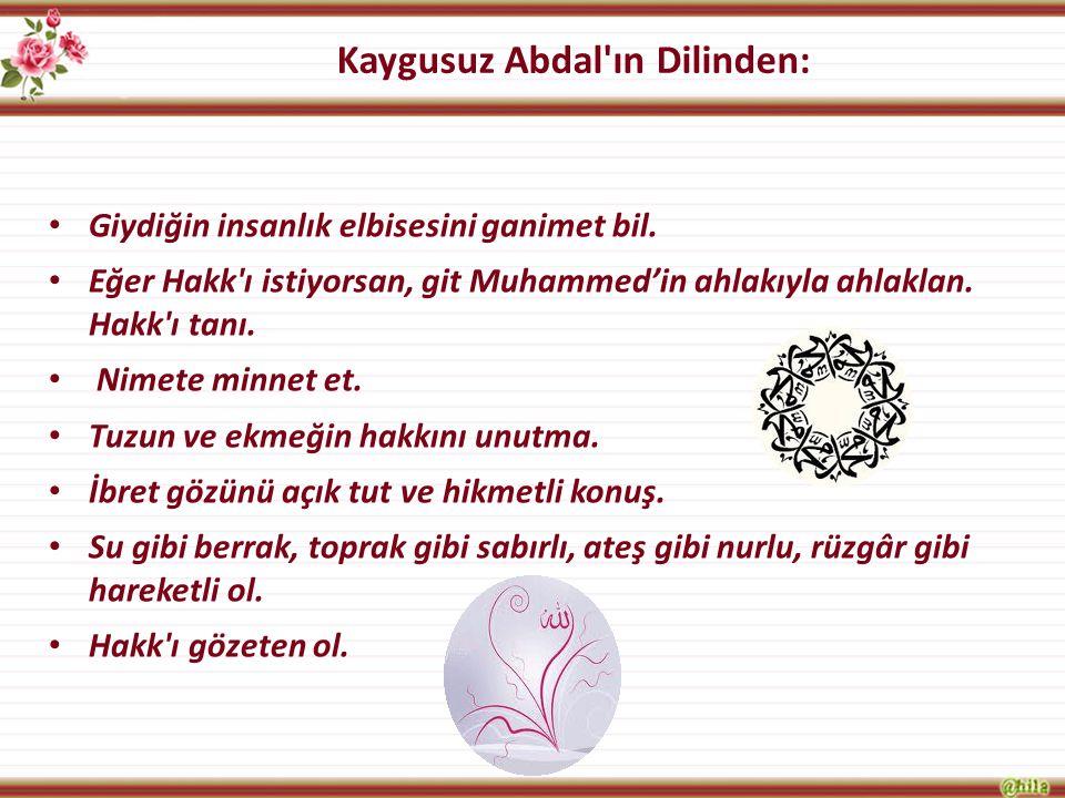 Kaygusuz Abdal ın Dilinden: