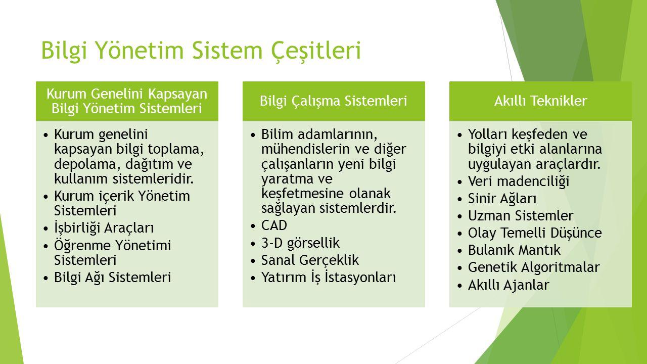 Bilgi Yönetim Sistem Çeşitleri