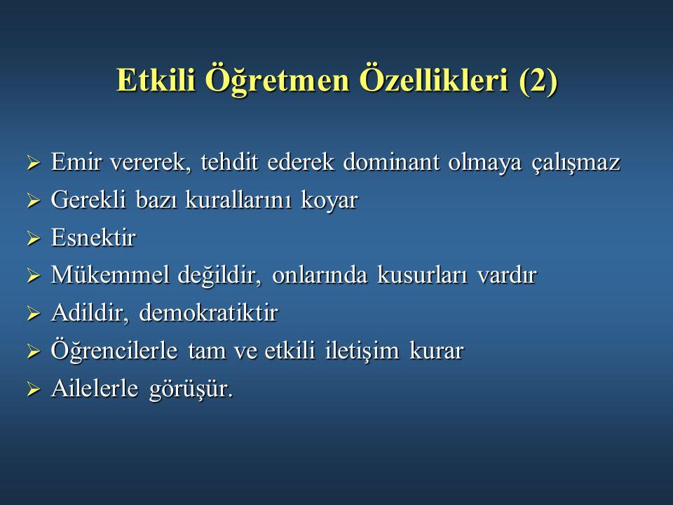 Etkili Öğretmen Özellikleri (2)