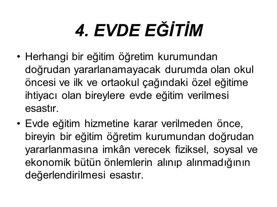 4. EVDE EĞİTİM