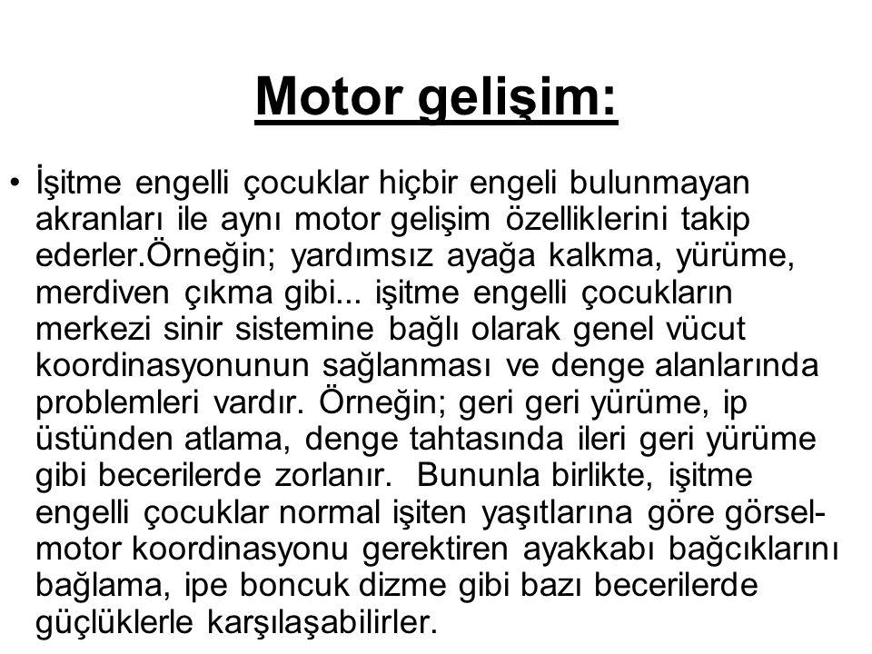 Motor gelişim: