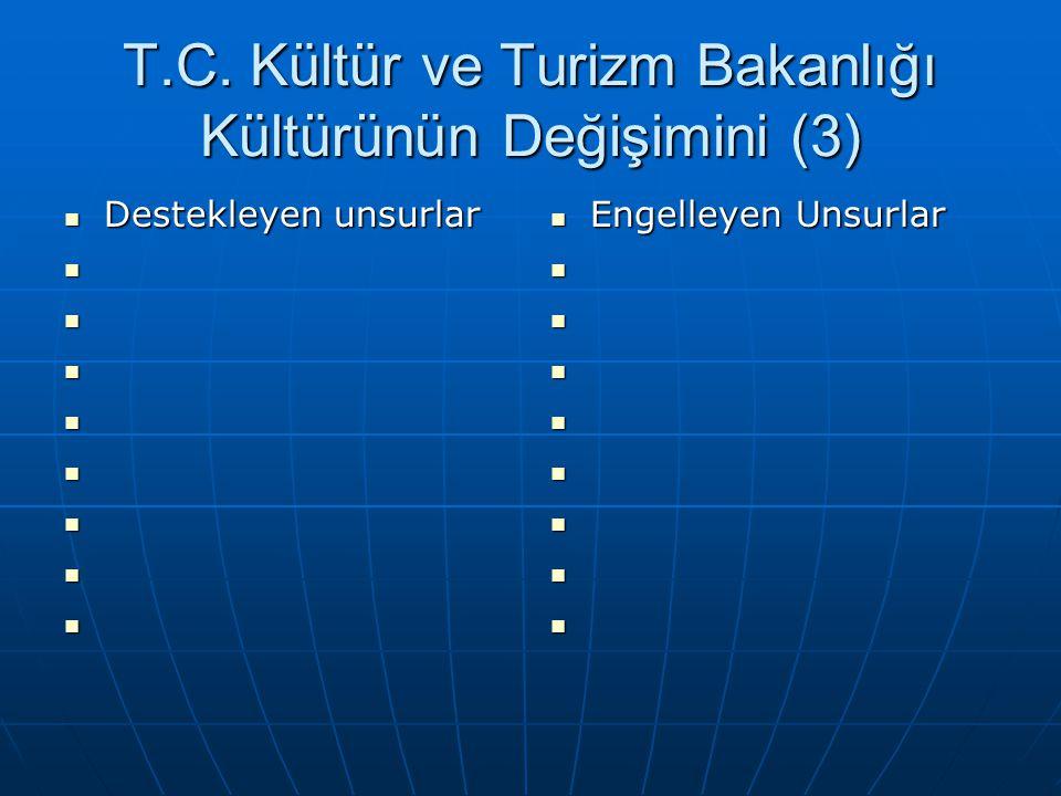 T.C. Kültür ve Turizm Bakanlığı Kültürünün Değişimini (3)