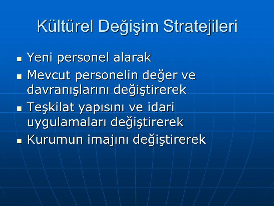 Kültürel Değişim Stratejileri