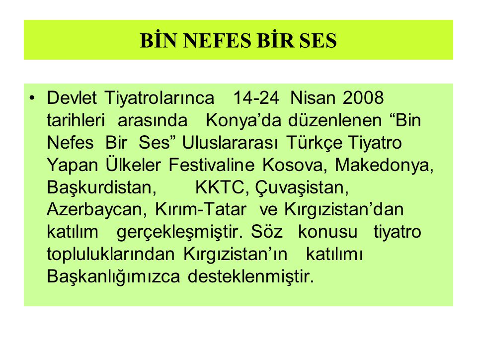 BİN NEFES BİR SES