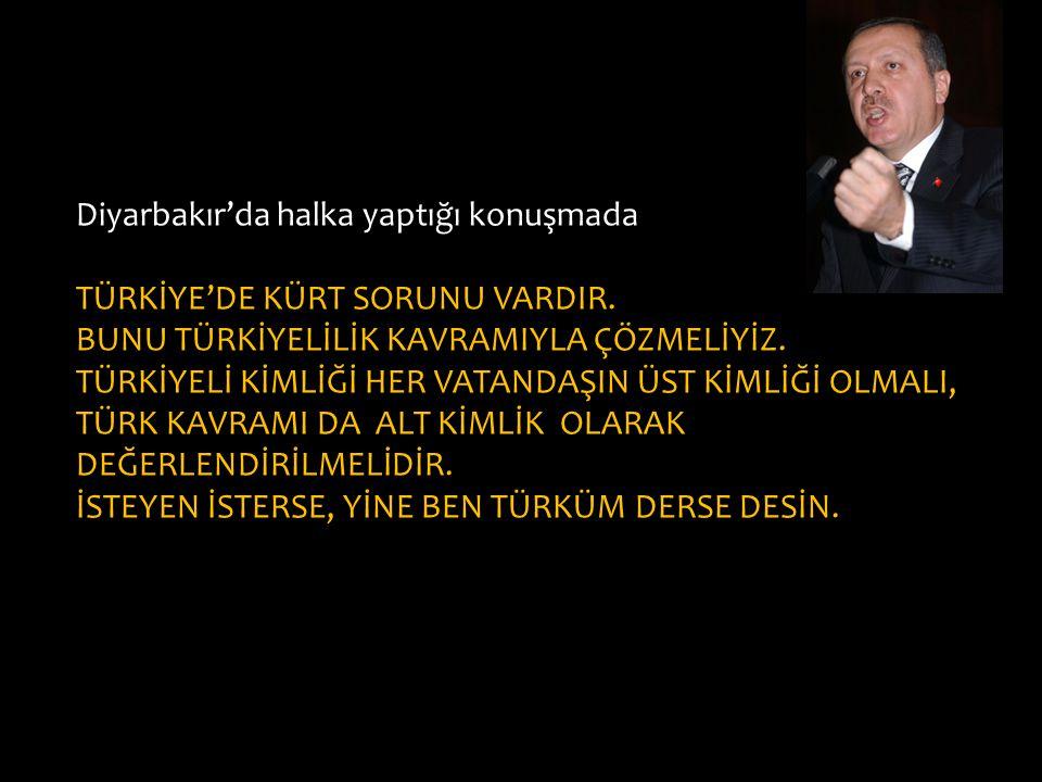 Diyarbakır'da halka yaptığı konuşmada