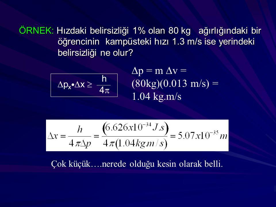 Dp = m Dv = (80kg)(0.013 m/s) = 1.04 kg.m/s