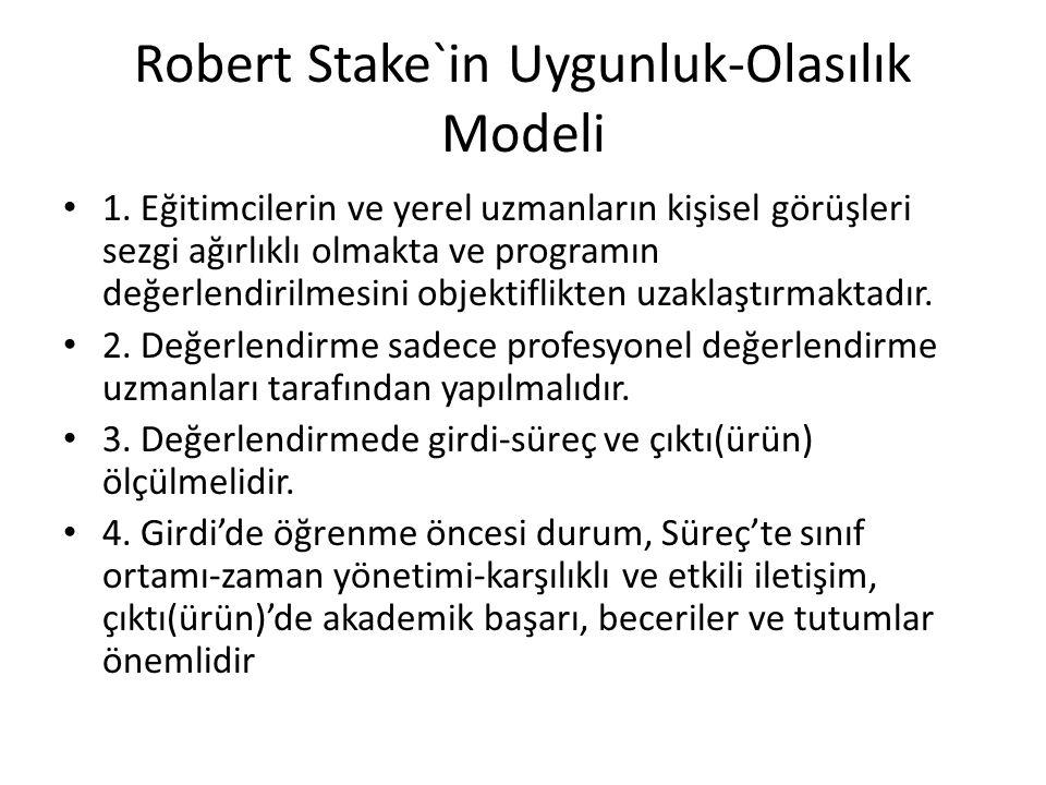 Robert Stake`in Uygunluk-Olasılık Modeli