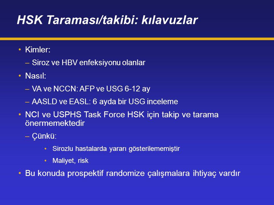 HSK Taraması/takibi: kılavuzlar