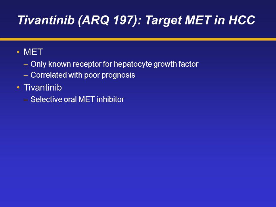 Tivantinib (ARQ 197): Target MET in HCC