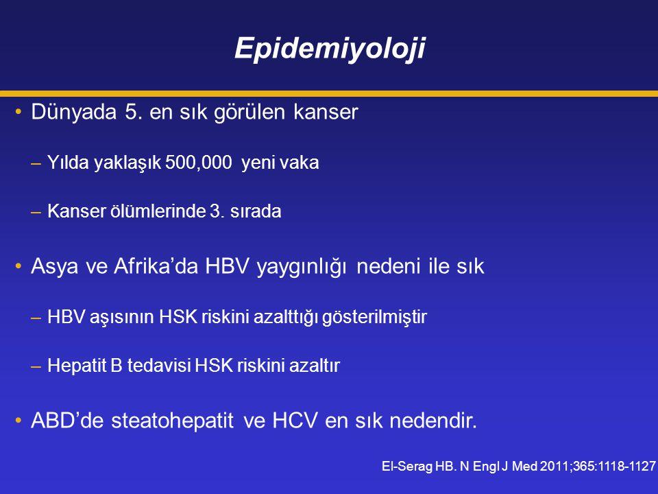 Epidemiyoloji Dünyada 5. en sık görülen kanser