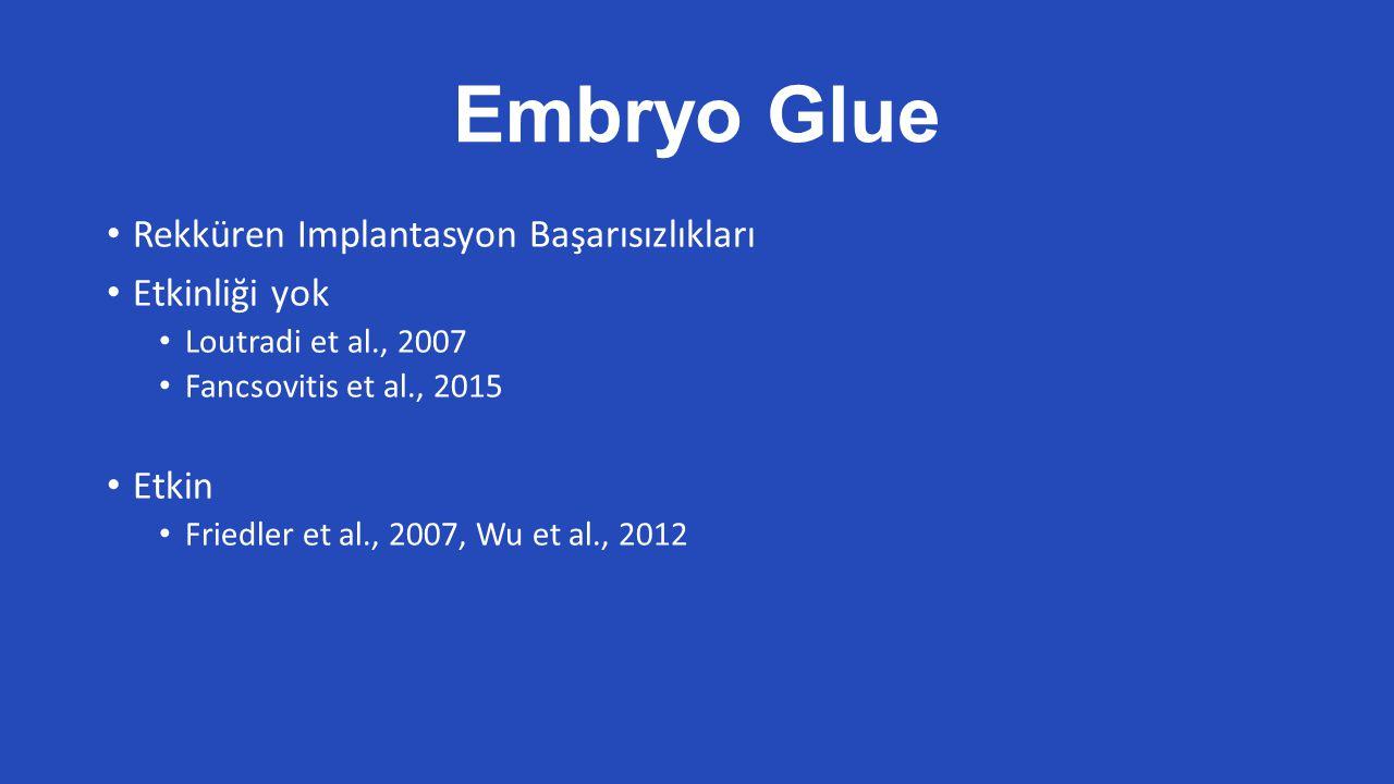 Embryo Glue Rekküren Implantasyon Başarısızlıkları Etkinliği yok Etkin