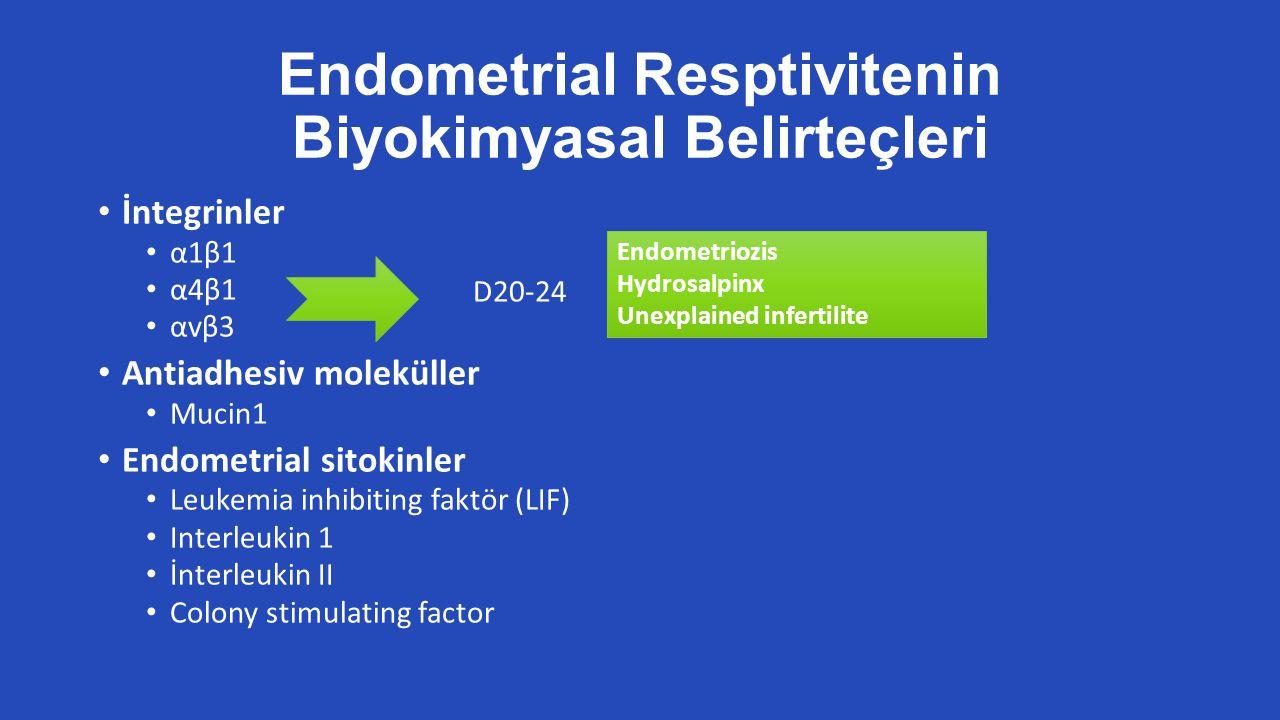 Endometrial Resptivitenin Biyokimyasal Belirteçleri