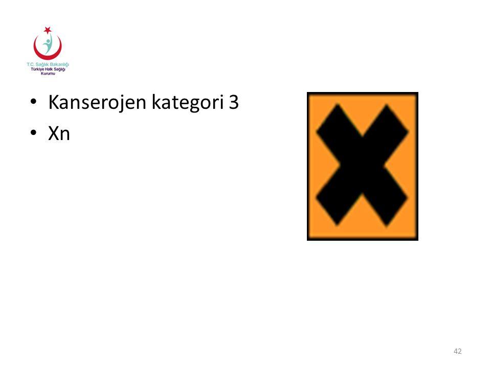 Kanserojen kategori 3 Xn