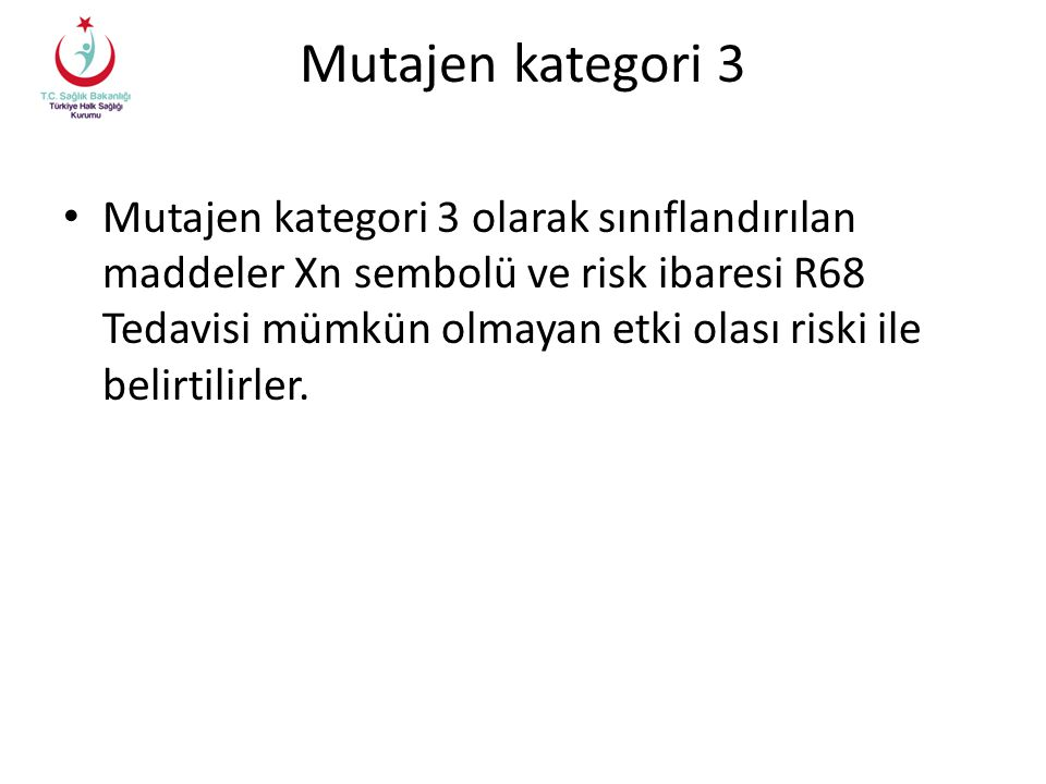 Mutajen kategori 3