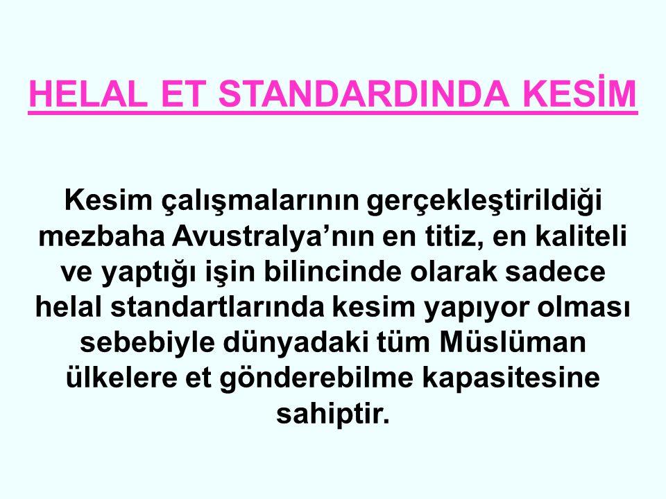 HELAL ET STANDARDINDA KESİM