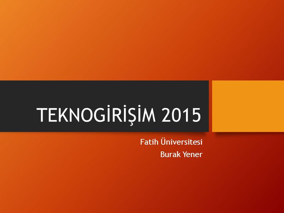 Fatih Üniversitesi Burak Yener