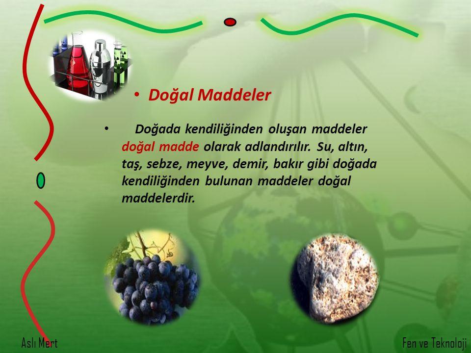 Doğal Maddeler