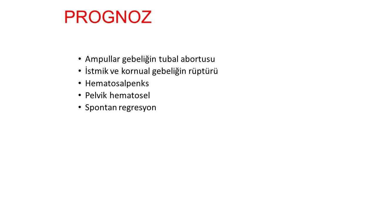 PROGNOZ Ampullar gebeliğin tubal abortusu