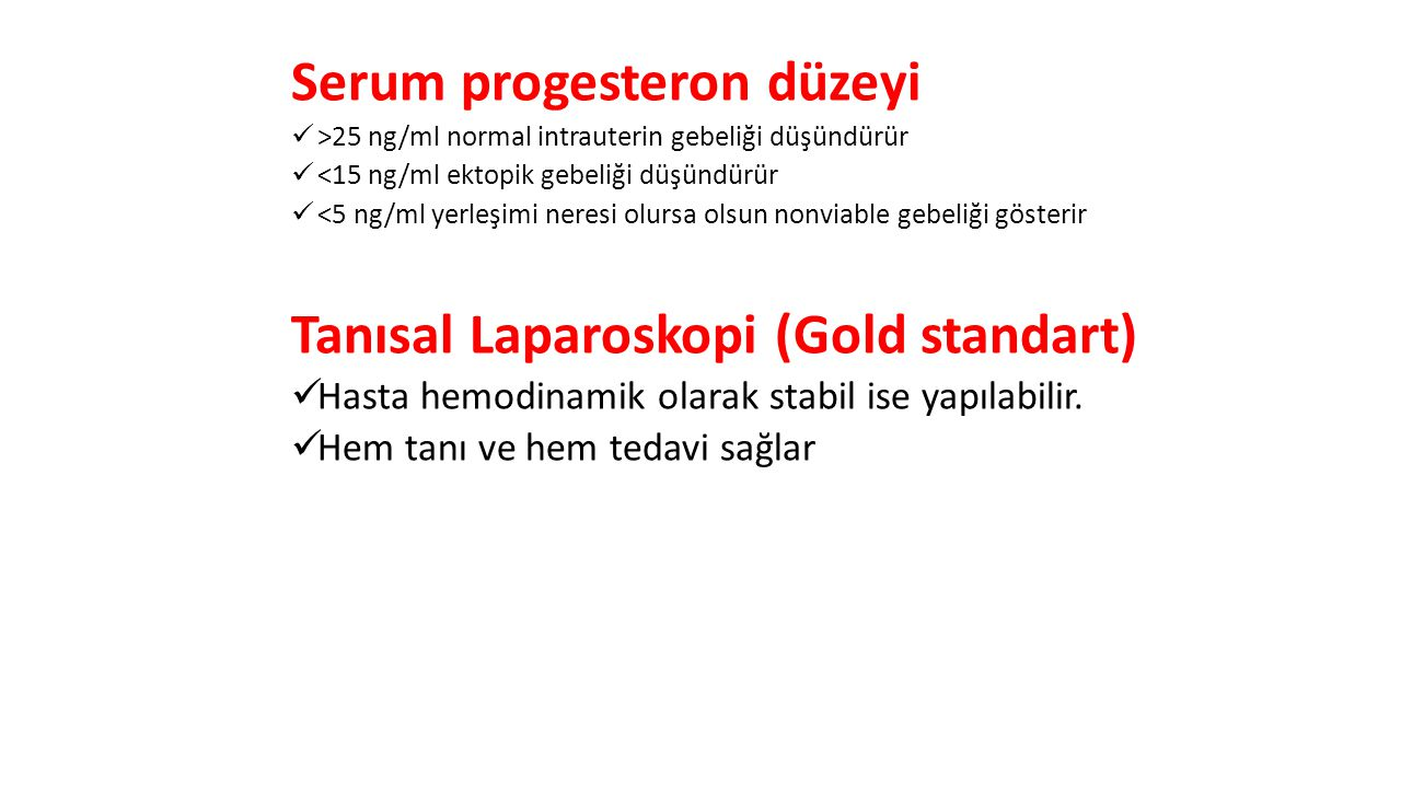 Serum progesteron düzeyi