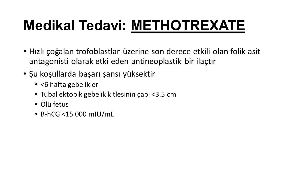 Medikal Tedavi: METHOTREXATE
