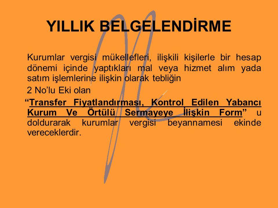 YILLIK BELGELENDİRME
