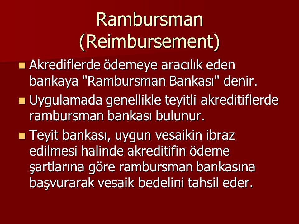 Rambursman (Reimbursement)