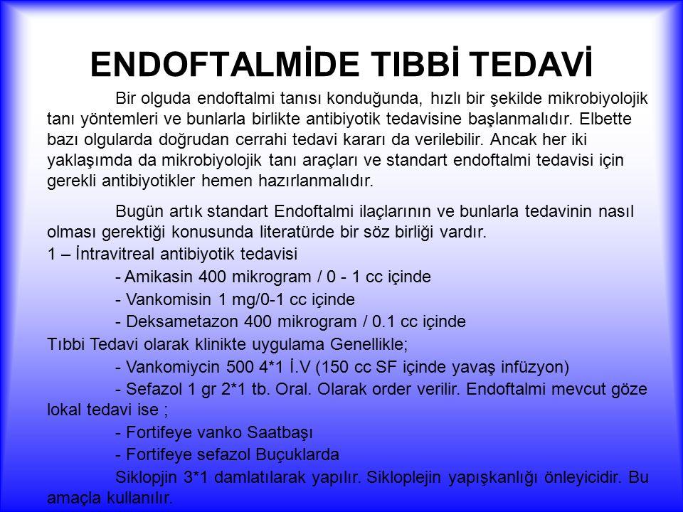 ENDOFTALMİDE TIBBİ TEDAVİ
