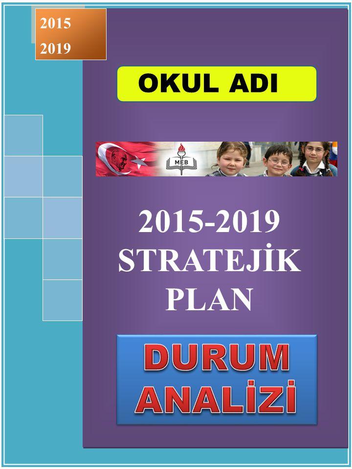 2015 2019 2015-2019 STRATEJİK PLAN ÇUBUK - 2015 OKUL ADI DURUM ANALİZİ