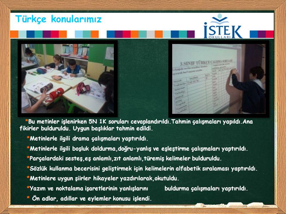 Türkçe konularımız