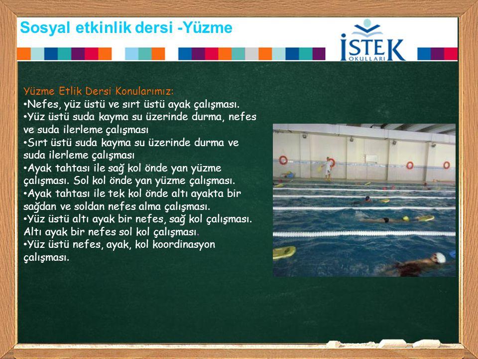 Sosyal etkinlik dersi -Yüzme