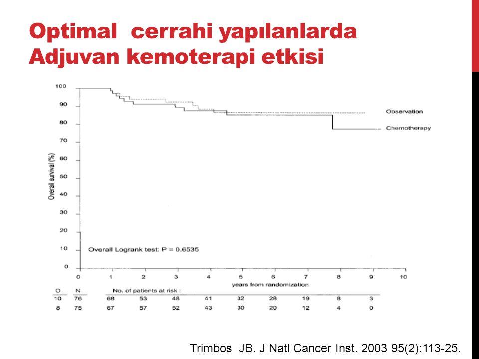 Optimal cerrahi yapılanlarda Adjuvan kemoterapi etkisi