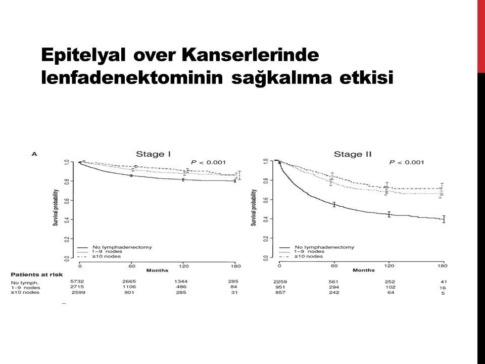 Epitelyal over Kanserlerinde lenfadenektominin sağkalıma etkisi