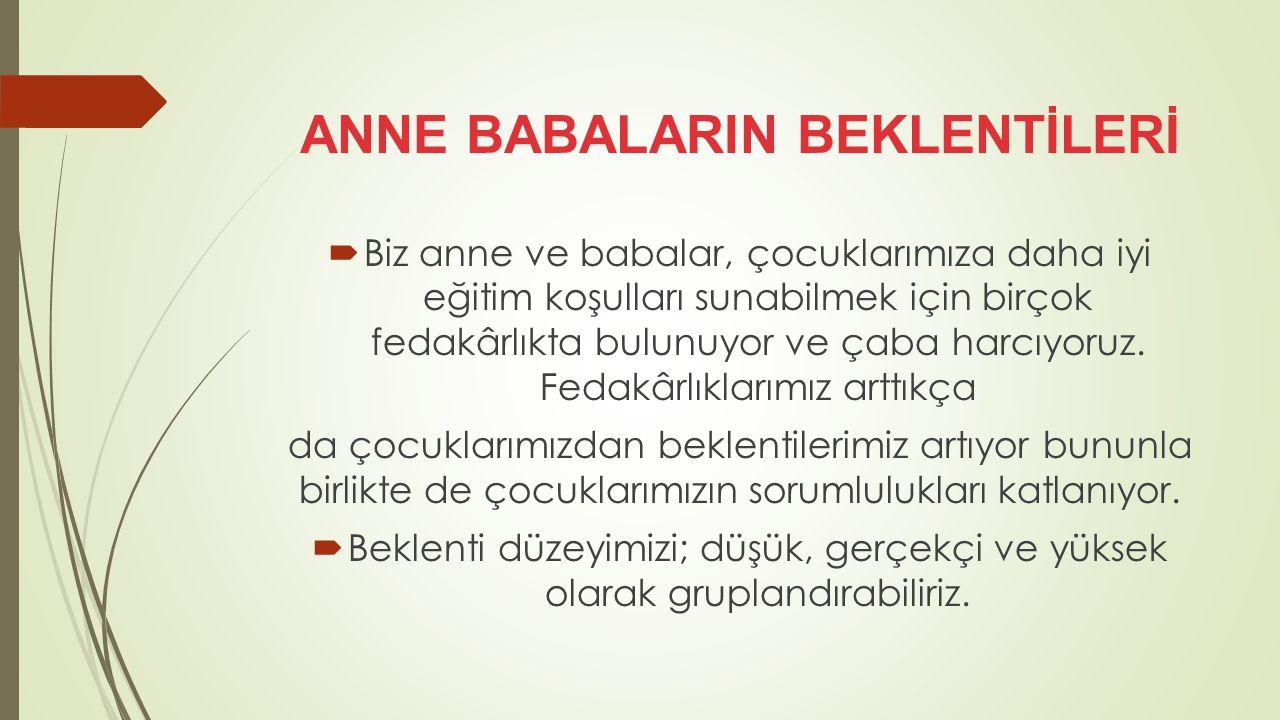 ANNE BABALARIN BEKLENTİLERİ