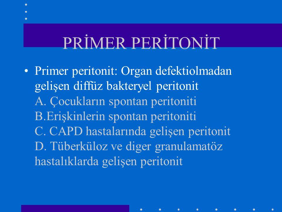 PRİMER PERİTONİT