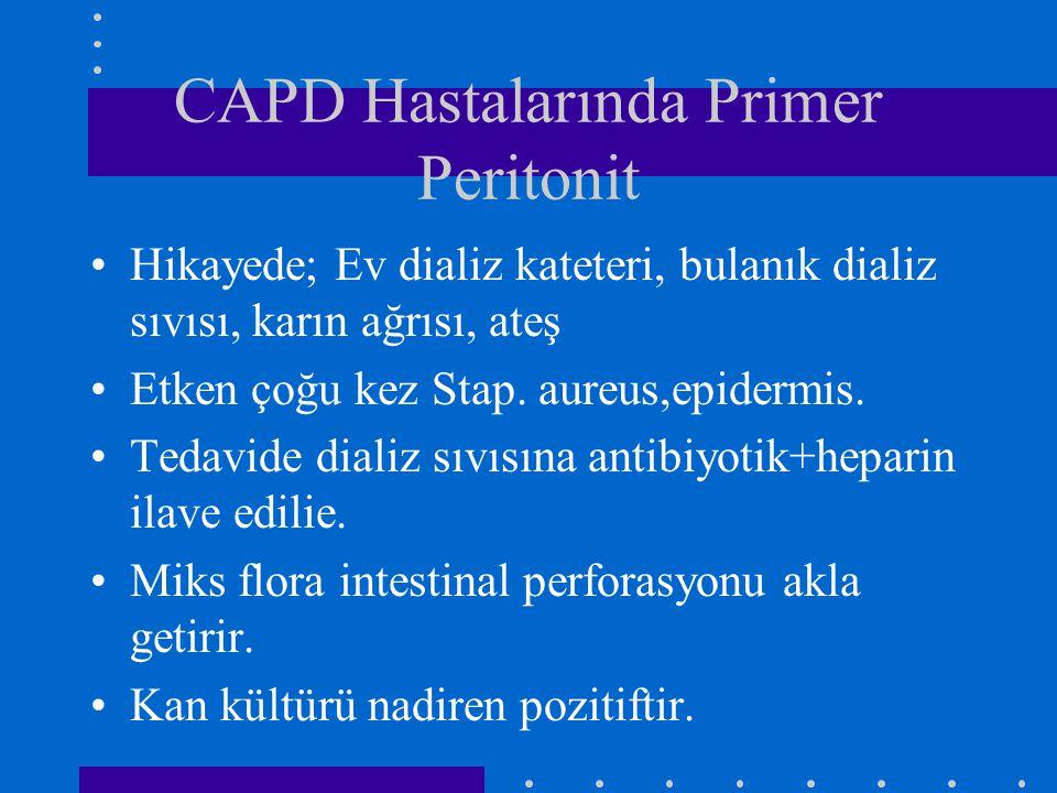 CAPD Hastalarında Primer Peritonit
