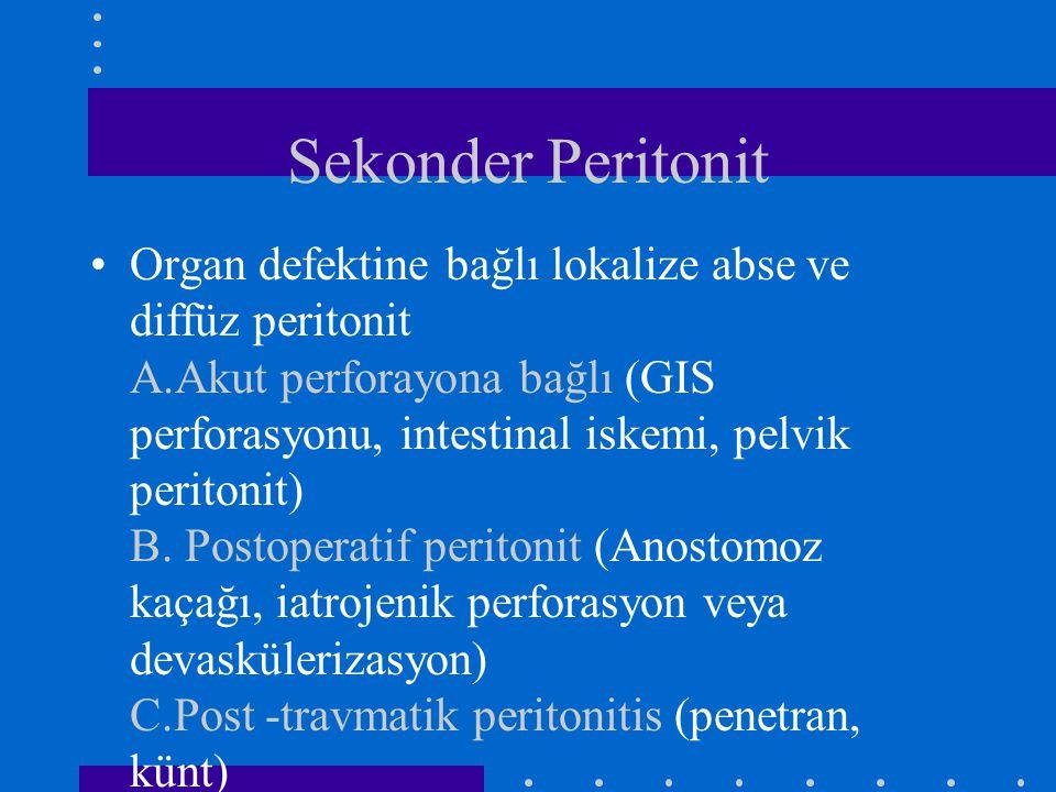 Sekonder Peritonit