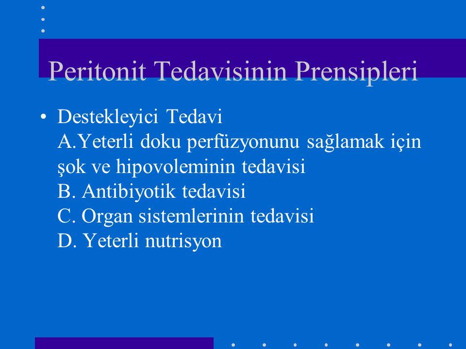 Peritonit Tedavisinin Prensipleri